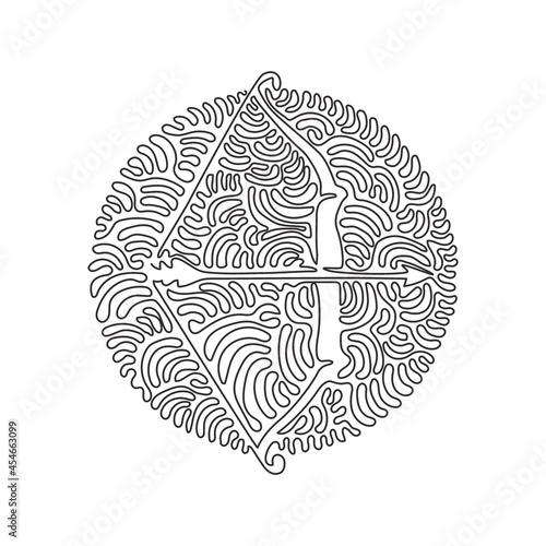Wallpaper Mural Single continuous line drawing Arrow and bow Indian archery weapon