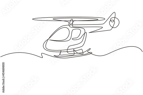 Fotografia Continuous one line drawing toy helicopter