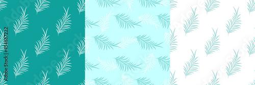 Tela Set of exotic tropical botanic seamless patterns