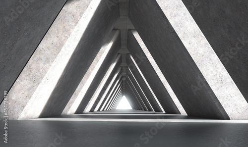 Slika na platnu Concrete Tunnel Backdrop Stage