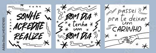 Fotografie, Tablou Three Good Feelings Brazilian Portuguese Posters