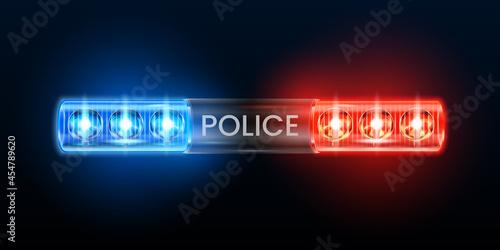 Carta da parati Police siren lights