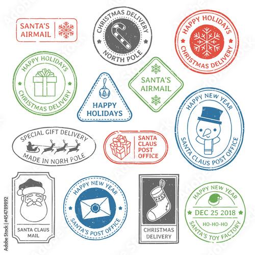 Obraz na plátně Santa Claus post stamp