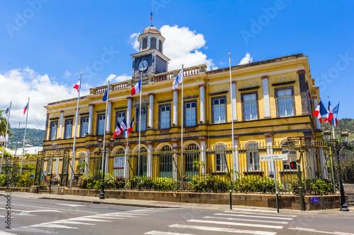 Fototapeta Mairie de Saint-Denis, île de la Réunion