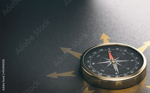 Photo Compass for Business Orientation or Professional Guidance