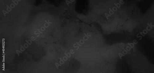 Fotografiet Dark Rough Black wall slate texture rough background, dark concrete floor or old
