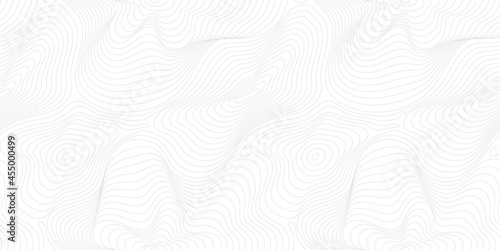 Fototapeta premium Subtle minimal vector seamless pattern, thin curved lines. Modern wide background. Abstract dynamical rippled surface, visual 3D effect, illusion of movement, curvature. Repeat design for print, web