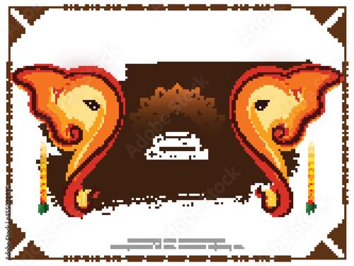 Canvas Print Decorative Happy Ganesh Chaturthi traditional Hindu festival background