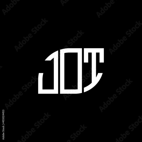 Fotografiet JOT letter logo design on black background