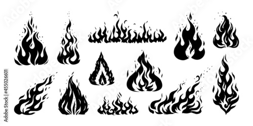 Fotografia Hand drawn flame