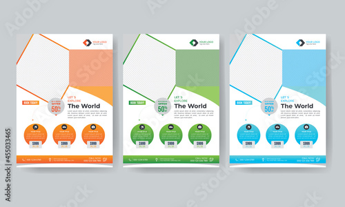 Canvastavla Travel flyer and agency promotion brochure design template with venue details in
