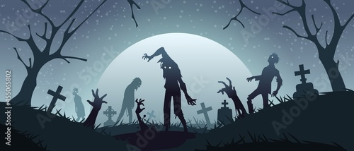 Tela Zombies on graveyard