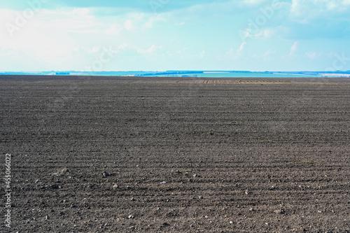 Stampa su Tela Agriculture plowed field