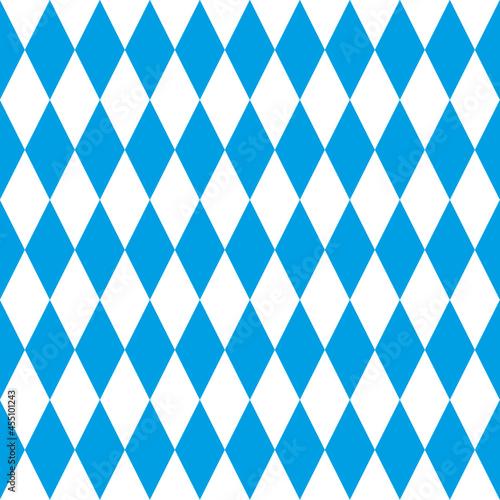 Wallpaper Mural Seamless Bavarian rhombic pattern