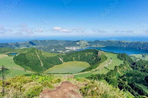Sete Cidades, view from Boca Do Inferno Miradouro. Sao Miguel, Azores