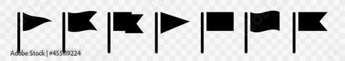 Fotografie, Obraz Waving flags vector icons