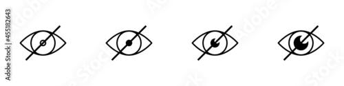 Conjunto de icono de imagen censurada Fototapeta