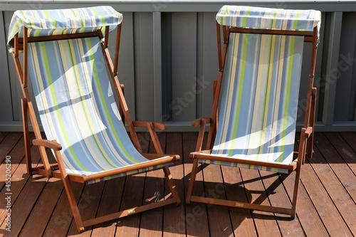 deck chair on the beach Fototapet