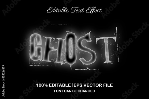 Photo ghost 3d editable text effect