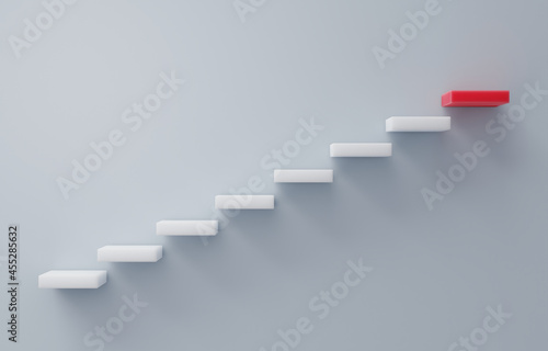 Fotografija Stairs going upward concept of building success foundation with copy space