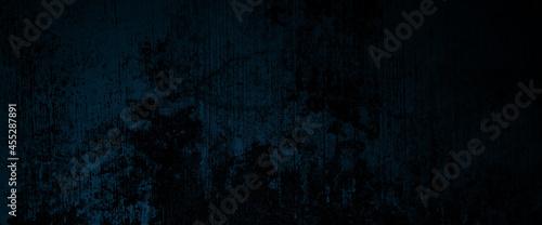 Canvastavla Creepy dark blue cement for background