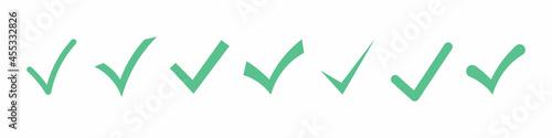 Stampa su Tela Set of Simple check mark