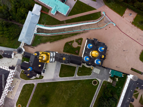 Obraz na plátně Bird eye view onto Tobolsk Kremlin in summer day