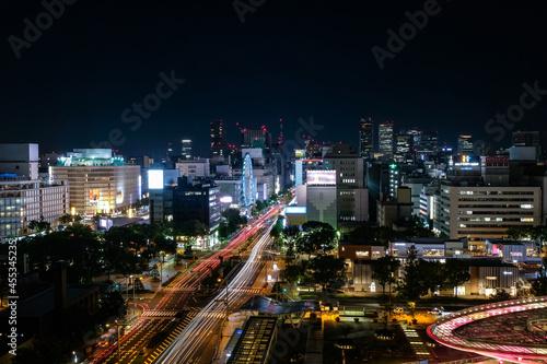 Fototapeta 愛知県名古屋市 愛知芸術文化センターから眺める栄の夜景