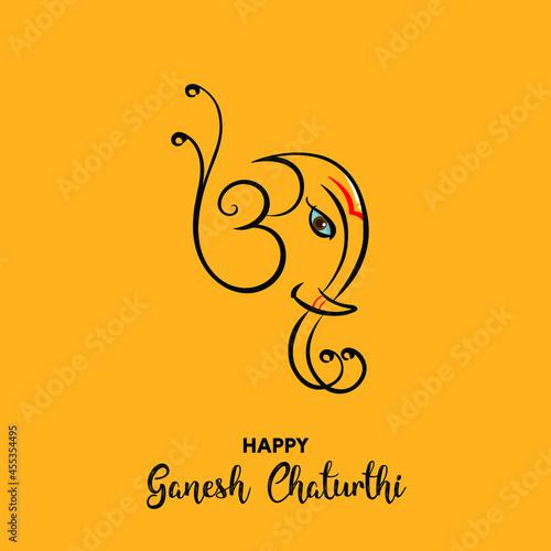 Wallpaper Mural Happy Ganesh Chaturthi vector background