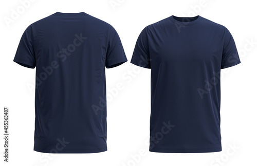 Fotografie, Obraz 3D HQ Rendered T-shirt. With detailed and Texture. Color [ NAVY ]