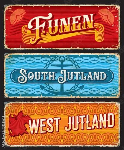 Fotografie, Obraz Funen, South and West Jutland Denmark plates