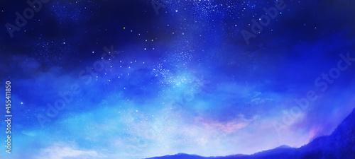 星空の風景イラスト