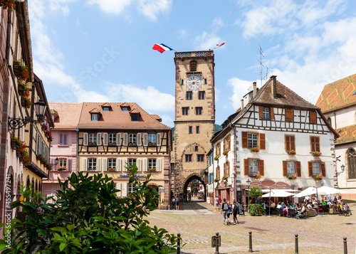 Canvastavla Der Tour des Bouchers in Ribeauville im Elsass Frankreich