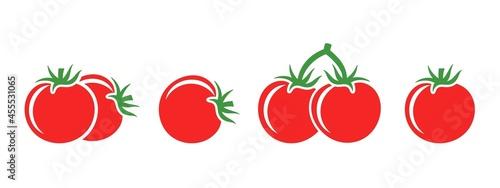 Fotografie, Obraz Tomato logo. Isolated tomato on white background