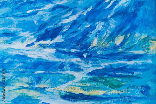 Valokuvatapetti Oil painting on the wall handmade