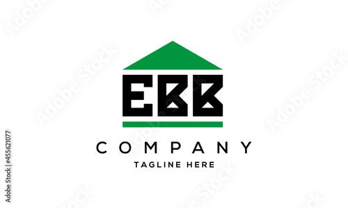 Fotografie, Obraz EBB three letter house for real estate logo design