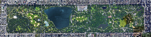 USA New York Central Park  Aerial View Fotobehang
