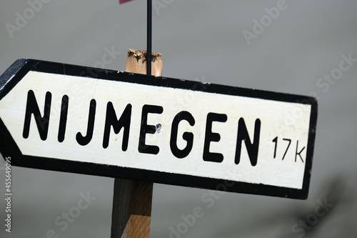 Road sign depicting town deeply involved in operation Market Garden Fototapeta