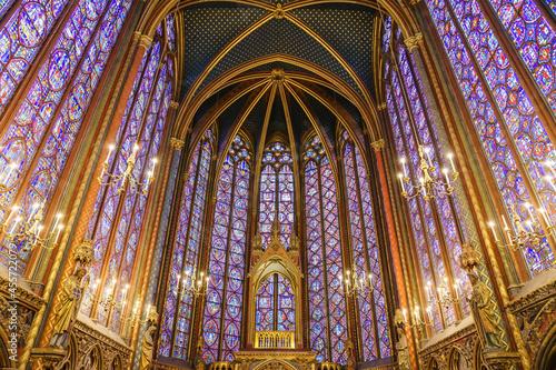 Obraz na plátně PARIS, FRANCE - APRIL 08, 2018: The Sainte Chapelle (Holy Chapel) in Paris, France