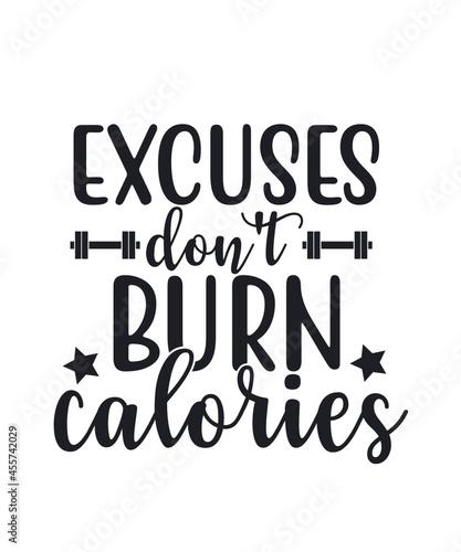 Obraz na plátně Gym Motivation SVG Bundle Cut Files, Gym Sayings Quotes Svg, Fitness Quotes Svg,
