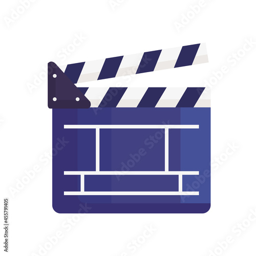 Canvas Print clapboard of movie