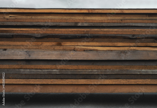 Obraz na plátně wood texture background, group of wooden boards on top of each other, horizontal
