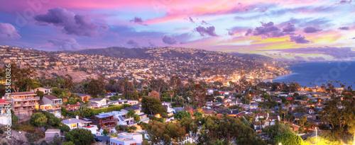 Canvastavla Sunset view over Laguna Beach