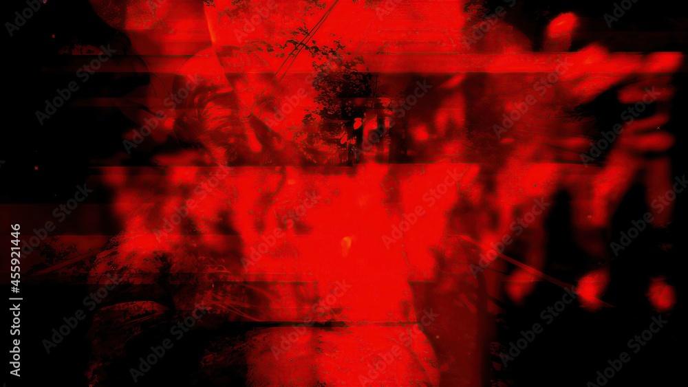 3d illustration - Disturbing Horror Background - obrazy, fototapety, plakaty