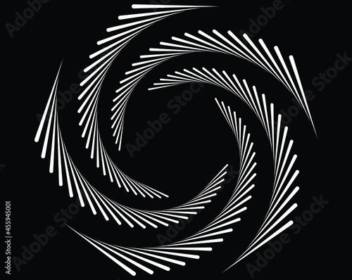 Canvas Print abstract black halftone dots