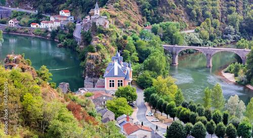 Stampa su Tela Presqu'île d'Ambialet dans les gorges du Tarn, France