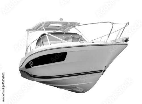 Fotografie, Obraz Motor boat isolated. on white background