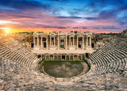 Tela ancient, architecture, roman, amphitheater, theater, ruins, stone, turkey, rome,