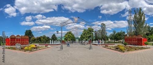 Foto Alexander Suvorov square in Tiraspol, Transnistria