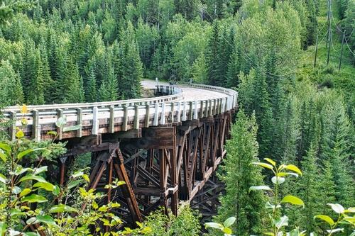 Wallpaper Mural Abandoned wooden trestle bridge on Alaska Highway